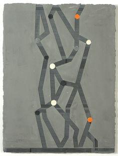 "Elise Ferguson, C STICKS, 2011, Pigmented plaster, pencil, mdf panel, 24"" x 18"" via Halsey McKay Gallery"