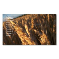 Wheat Field - Business Cards. This great business card design is available for customization. All text style, colors, sizes can be modified to fit your needs. Just click the image to learn more!