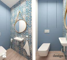 KAWAŁEK NIEBA NA WILANOWIE - Mała łazienka w bloku bez okna, styl nowoczesny - zdjęcie od design me too