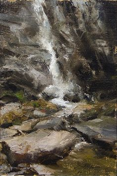 Asheville Waterfall by Matthew J Cutter was awarded 2nd Place in the July 2013 BoldBrush Painting Competition.