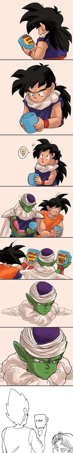 That's so generous of Gohan! and it's so true about Piccolo, you know being like a second fatherly figure to Gohan. Heh, the last one though. - Visit now for 3D Dragon Ball Z compression shirts now on sale! #dragonball #dbz #dragonballsuper