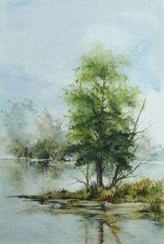 L'isolé. Tree on lake