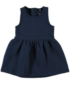 MINI NITDIMIA QUILTET KJOLE, Dress Blues