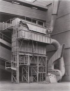 Hochöfenwerk Belval Esch-Alzette, Luxembourg, Photo by Bernd and Hilla Becher, 1997 Metal Buildings, Abandoned Buildings, Abandoned Places, Tectonic Architecture, Vernacular Architecture, Building Structure, Steel Structure, Hilla Becher, Abandoned Factory