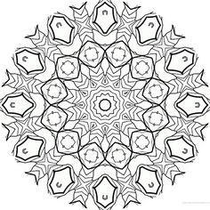 dessin mandala a colorier numero 055 mandala coloriage adulte via dessin2mandalacom