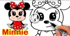 How to Draw Disney Minnie Mouse Cute step by step Easy on Drama TV, How to Draw Disney Mickey Mouse Cute step by step, How to Draw + Color Kissing Emoji s Easy Cartoon Drawings, Cartoon Drawing Tutorial, Cute Disney Drawings, Disney Princess Drawings, Kawaii Drawings, Easy Drawings, Drawing Disney, Drawing Step, Minnie Mouse Drawing