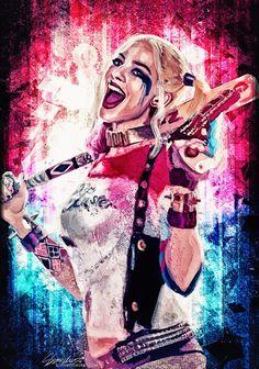 Harley Quinn by Sophie Cowdrey Joker Y Harley Quinn, Harley Quinn Drawing, Margot Robbie Harley Quinn, Harley Quinn Cosplay, Harley Queen, Hearly Quinn, Lisa Frank Stickers, Pinturas Disney, Joker Art