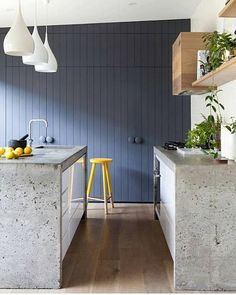 Modern Luxury Kitchens For A Grand Kitchen Concrete Bench, Top Kitchen Designs, Concrete Kitchen, Kitchen Remodel, Kitchen Benches, Farm Style Kitchen, Kitchen Design, Modern Kitchen, Kitchen Styling