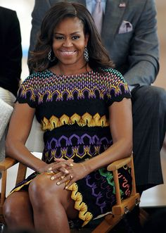 Classy, educated, intelligent, compassionate, involved, natural Black beauty, FLOTUS, Michelle Obama.