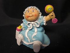 99 Cent Auction of the Day:  A #CabbagePatchKid vintage baby figurine, she is a real doll! 11-16-13