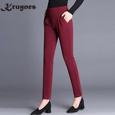 06eee76246a9d US $12.15 10% OFF New Fashion Spring Autumn Women's Classic Casual Pants  Elastic Waist Harem Pants Female High Waist S 6XL Loose Women Trousers-in  Pants ...