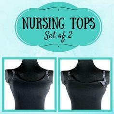Nursing Tops for Breastfeeding, Set of 2, Breastfeeding Tank Top, Nursing Top, Breastfeeding Shirt, Breastfeeding Tank Top, Nursing Camisole