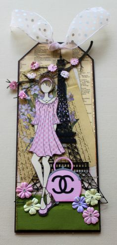 Paris Collection--Spring created with Julia Nutting Paper Doll Stamps