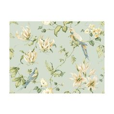 York Wallcoverings JG0752 Blue Book Tropical Floral Wallpaper Light (515 NOK) ❤ liked on Polyvore