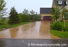 driveway idea for old concrete driveway... colored concrete sealer
