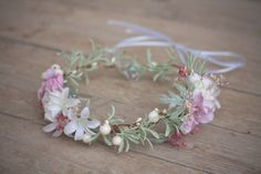 Wedding Hair Accessories – Flower head wreath,floral head wreath,flower crown – a unique product by evafleur on DaWanda