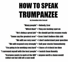 How To Speak Trump - PoliticalHumor Trump Quotes, Political Cartoons, Trump Cartoons, Dont Understand, Donald Trump, Life Quotes, Shit Happens, Sayings, Words