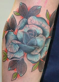 Blue Rose Tattoo - Aivaras Lee http://tattoosflower.com/blue-rose-tattoo-aivaras-lee/