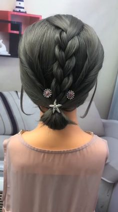 Hairstyle Tutorial 370 Soft, shiny, silky and well-groomed hair is our dream. However, as a result of our research for hair care, which is the . Short Hair Updo, Wavy Hair, Curly Hair Styles, Natural Hair Styles, Pretty Hairstyles, Braided Hairstyles, Hair Upstyles, Hair Videos, Hairstyles Videos