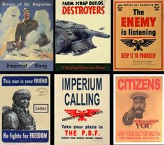 Spikey Bits Warhammer 40k, Fantasy, Conversions and Painted Miniatures: Cool Imperial Propaganda Posters- Pic of the Day