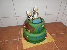 dort - Křemílek a Vochomůrka, pohádky z mechu a kapradí / cake - fairy moss and ferns