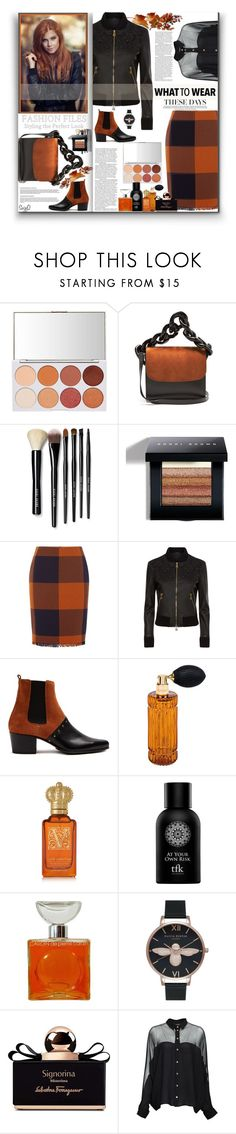 """FALL BRUNCH: Matching Ensemble"" by polyvore-suzyq ❤ liked on Polyvore featuring Marques'Almeida, Bobbi Brown Cosmetics, HUGO, La Perla, Balmain, Diptyque, Clive Christian, The Fragrance Kitchen, Pierre Cardin and Olivia Burton"