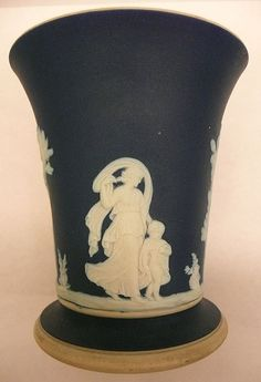 vase made in england | Dark Blue Jasper Ware Vase Wedgwood Made In England from artgate on ...