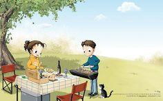 2011年3月份月历壁纸 - Haru 3月份月历插画图片壁纸3