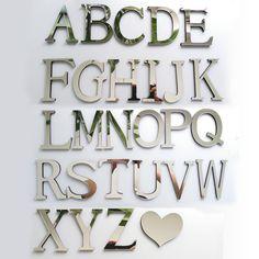 2016 new acrylic EVA wedding sticker love letters Home decoration English 3D mirror wall Stickers Alphabet  LOGO Free shipping