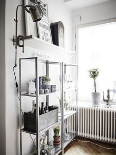 Ikea 'Hyllis' shelves in kitchen