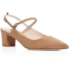 Sjp by Sarah Jessica Parker Citizen Mary Jane Slingback Pumps (2,780 GTQ) ❤ liked on Polyvore featuring shoes, pumps, taffy tan, mary-jane shoes, sling back pumps, slingback shoes, sjp and sjp shoes