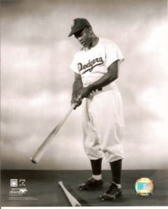 Jackie Robinson with Bat by Julian Madyun is a photographic poster of the legendary baseball player in his Dodger uniform with a bat in his hands. Negro League Baseball, Baseball Players, Mlb Spring Training, Jackie Robinson, His Hands, Dodgers, Black Men, Portrait, Poster
