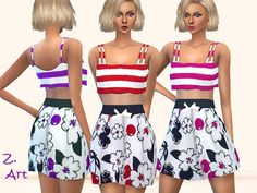 The Sims Resource: Cherry Blossom dress by Zuckerschnute20 • Sims 4 Downloads