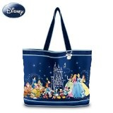 """The """"Wonderful World Of Disney"""" Tote Bag With Two Free Matching Cosmetic Cases by The Bradford Exchange"""