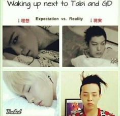 Lololol! I don't care Jiyong is still the cutest thing when we wakes up. GD and TOP ♡ #BIGBANG