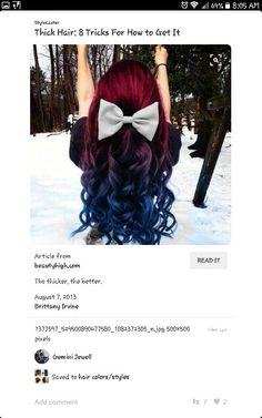 I so want this done to my hair