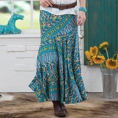 Aztec Summers Maxi Skirt http://www.modandretro.com/aztec-summers-maxi-skirt/