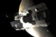 It was envisaged that the Daedalus starship would be constructed in orbit around the Jovian moon Europa.