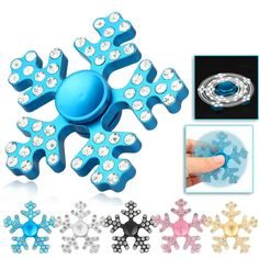 Fidget Hand Spinner with LED /& Aluminium Alloy-Autism /& ADHD-5 Color Option