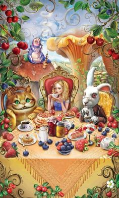 Mad Hatter Tea Party ~ wouldn't this be fun? Tea sandwiches, lots of different teas, little cakes, etc.