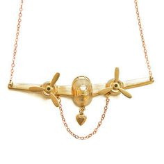 On The Wings Of Love Necklace, £26.50, now featured on Fab.