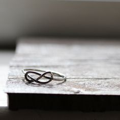 Infinity Knot Ring Stocking Stuffer Rustic Sterling by tinahdee, $40.00