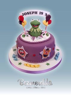 Kermit The Frog and The Muppets cake - Made by Bezmerelda