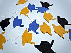 Custom Graduation Cap Confetti- Choose Your Colors by HookedonArtsNCrafts on Etsy