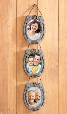 Hanging Country Western Horseshoe Picture Frames