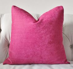 Dark Pink Pillow  Raspberry  Pillow Cover  by MotifPillows on Etsy