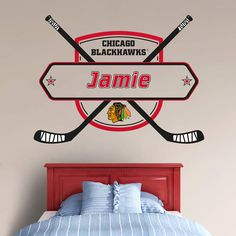 Chicago Blackhawks Bedroom | Blackhawks | Pinterest | Chicago ...