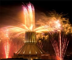 Liverpool Cathedral display by Fantastic Fireworks