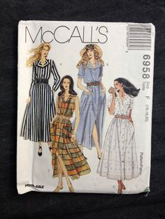 90's McCall's 6958 Pattern // Misses' Button by ElkHugsVintage, $5.00