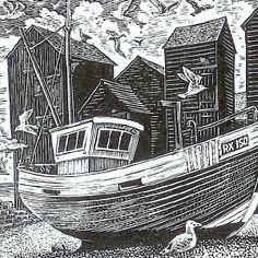Wood engraving artist Sue Scullard portfolio of prints she is based in Kent, UK Print Ideas, Wood Engraving, 2 Colours, Printmaking, Xmas, Paintings, Random, Places, Illustration